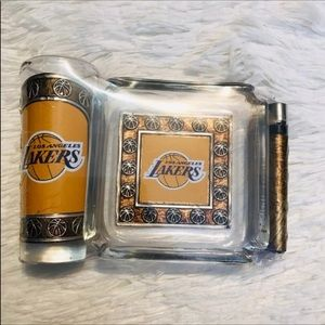 Los Angeles Lakers ashtray set